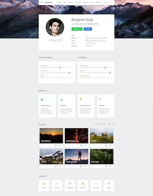 Thumbnail for Matresume - Material Design Resume
