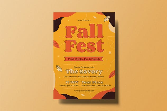 Fall Fest Flyer - product preview 1