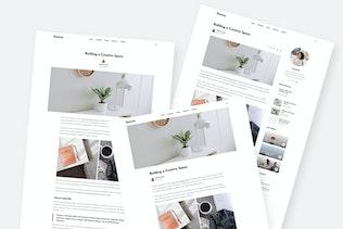 Thumbnail for Ganesa - Minimal WordPress Personal Blog Theme