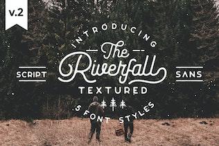 Miniatura para Tipo de letra con textura semirredondeada Riverfall