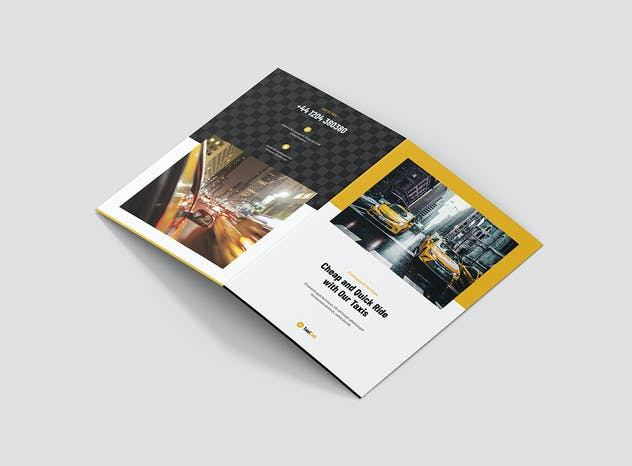 Taxi Cab – Brochures Bundle Print Templates 5 in 1 - product preview 4