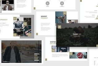 Thumbnail for Man Fashion Keynote Template