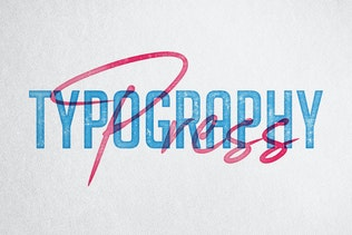 Thumbnail for Letterpress & Screenprint Texture Effects Vol.3