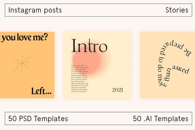 Lo Fi Instagram social template - product preview 5