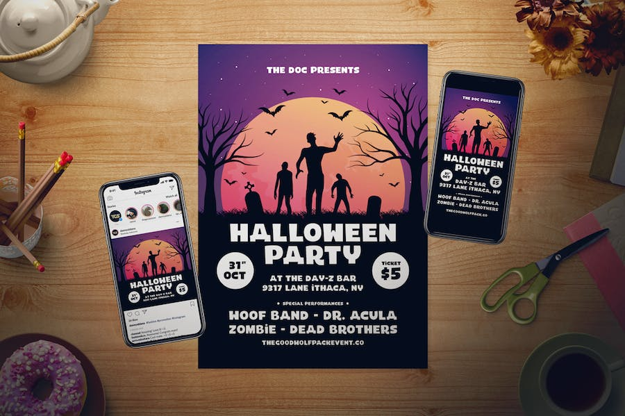 Halloween Flyer Set - product preview 1