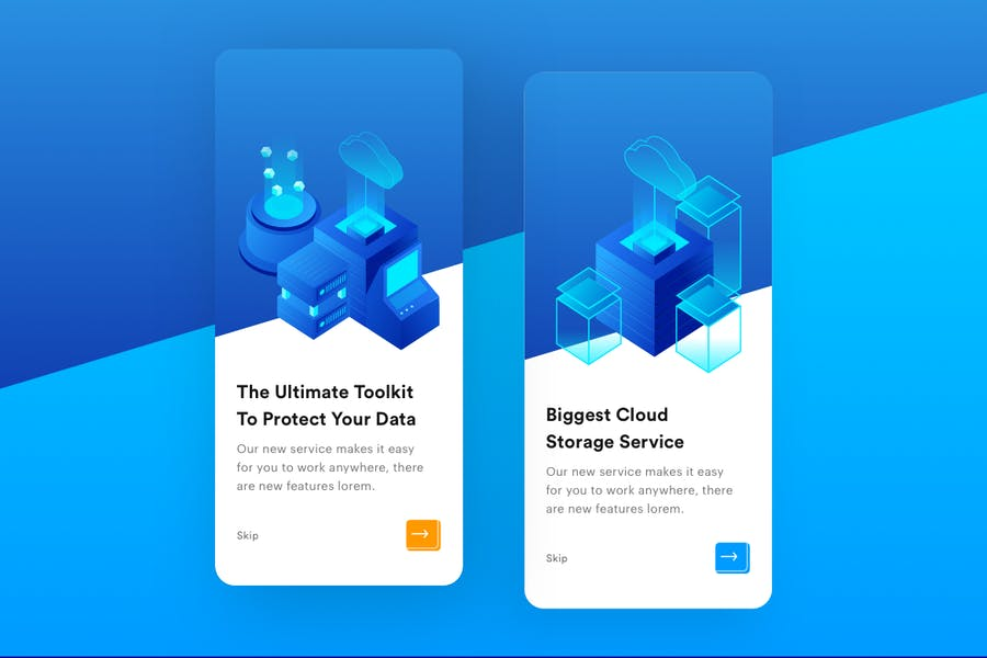 Cloud Storage Mobile Onboarding  - product preview 1