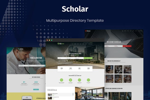 Scholar - Multipurpose Directory Template - product preview 0