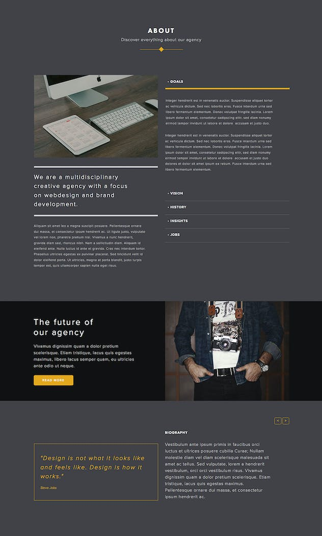 Avidus - Multipurpose Muse Template for Creatives - product preview 2