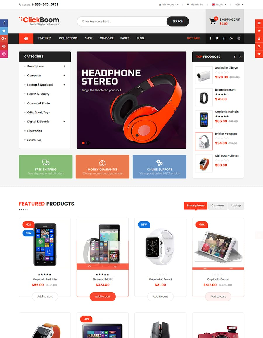 ClickBoom - Responsive Multipurpose Shopify Theme - product preview 2
