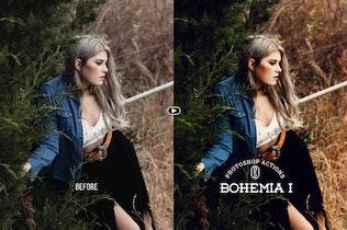 Thumbnail for Bohemia Photoshop Actions