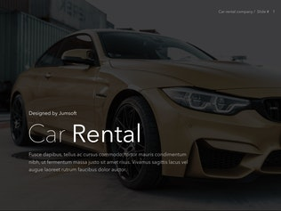 Thumbnail for Car Rental PowerPoint Theme