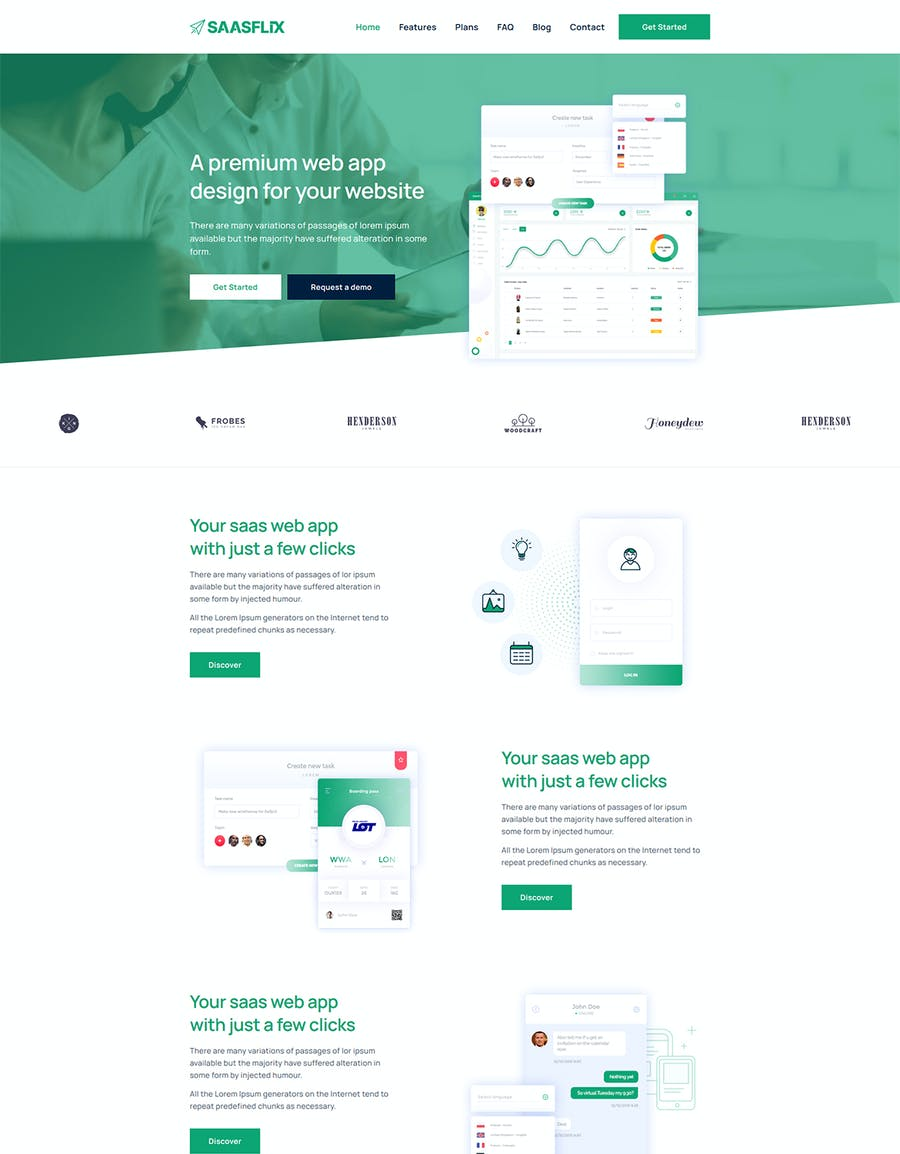 Saasflix SaaS Software Landing Page Template - product preview 2