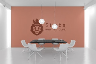 Thumbnail for Simba : Negative Space Lion Head Logo