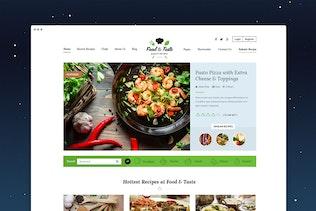 Thumbnail for Food & Taste - Recipe PSD Template