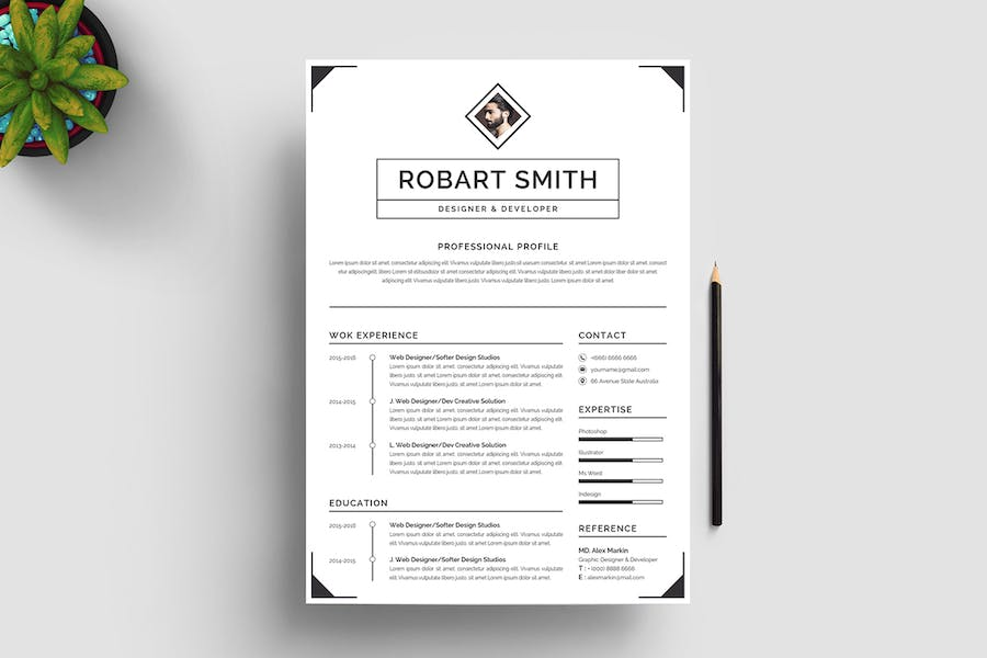 Resume Template 96 - product preview 4
