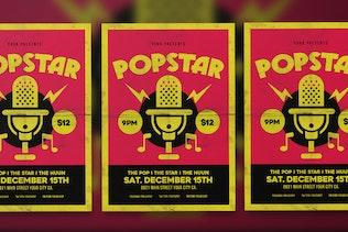 Thumbnail for Popstar music flyer