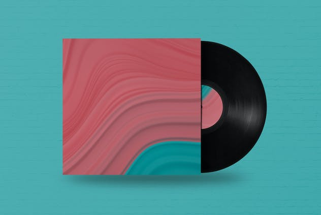 Abstract 3D Wavy Striped Backgrounds - product preview 4