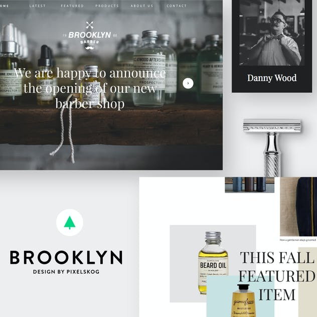 Brooklyn -Clean And Modern Onepager & Multipager d