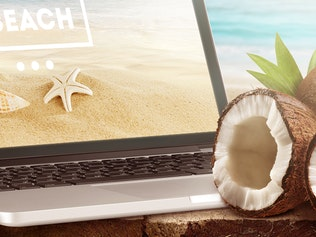Thumbnail for Mock-Up Laptop and tablet (PSD). Beach style