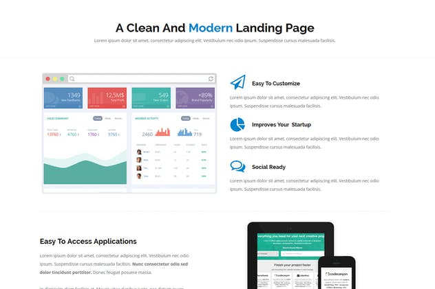 Jean - Landing Page Template - product preview 2