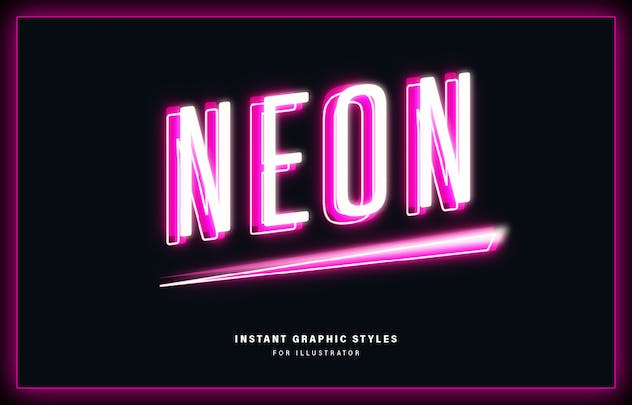 Neon Graphic Styles - product preview 7