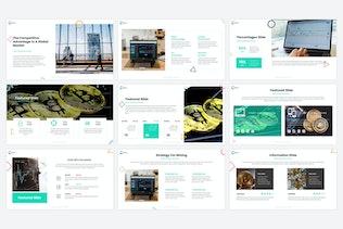 Thumbnail for Byte - Cryptocurrency PowerPoint Template