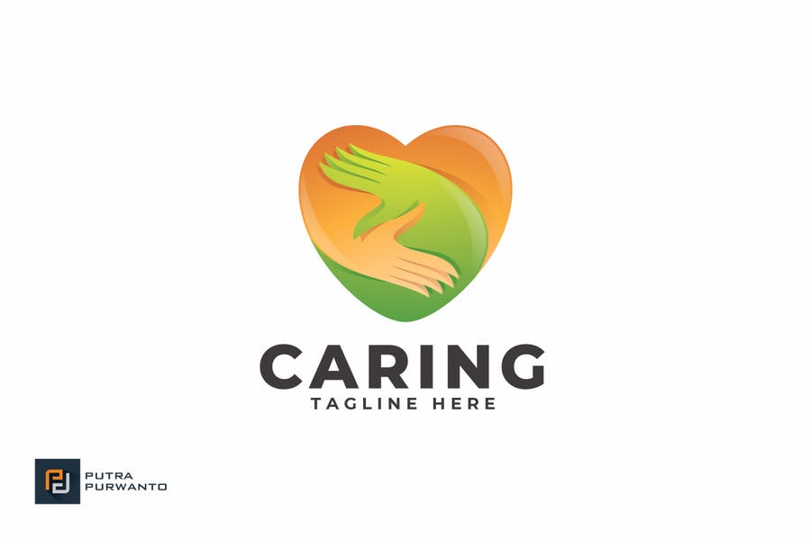 Caring - Logo Template - product preview 1