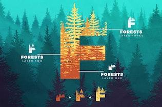 Miniatura para Fuentes en capas de bosques