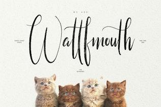 Thumbnail for Little Kittens Brush Calligraphy Font