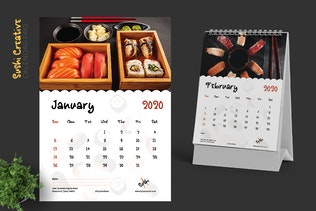 Thumbnail für 2020 Sushi Asian Resto Kreative Kalender Pro