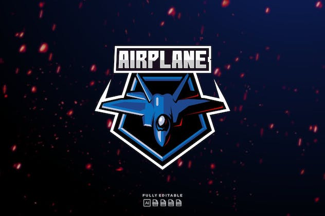 Airplane Jet Aero Fly logo