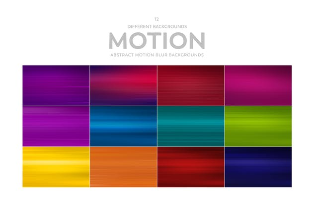 Motion Blur Abstract Backgrounds