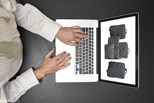 Thumbnail for Man on Laptop_Mockup