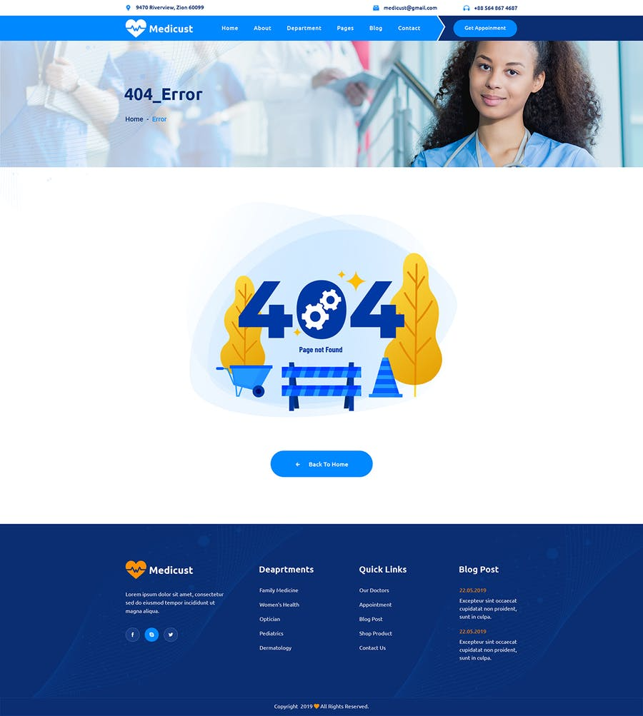 Medicust - Health and Medical HTML5 Template - product preview 0
