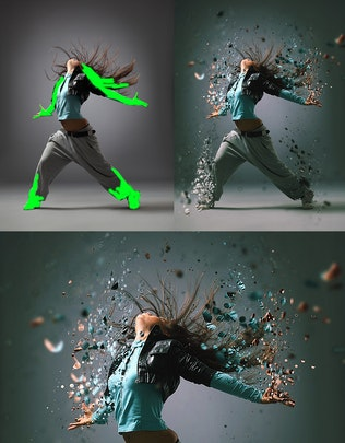 Thumbnail for Dispersion 2 Photoshop Action