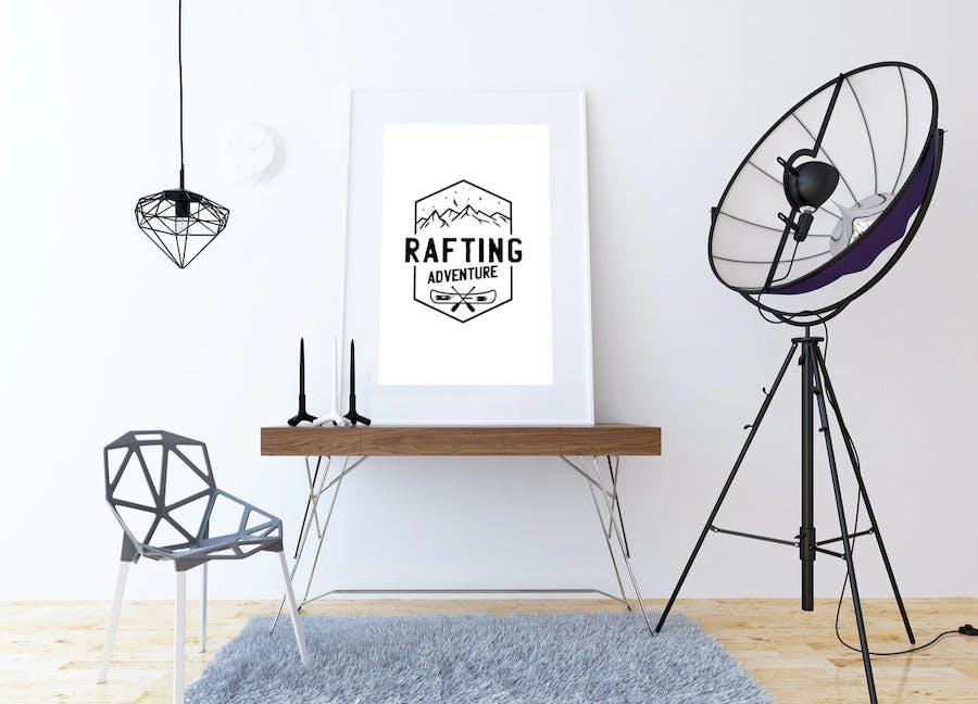 Rafting Adventure Logos, Camping Badges, TShirt  - product preview 3