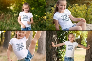Thumbnail for Girls T-shirt Mock-up