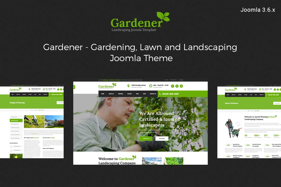 Gardener-Gardening and Landscaping joomla template