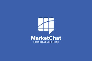 Thumbnail for Market Chat Logo Template