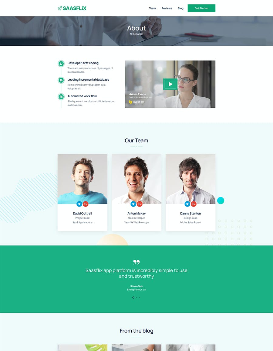 Saasflix SaaS Software Landing Page Template - product preview 1