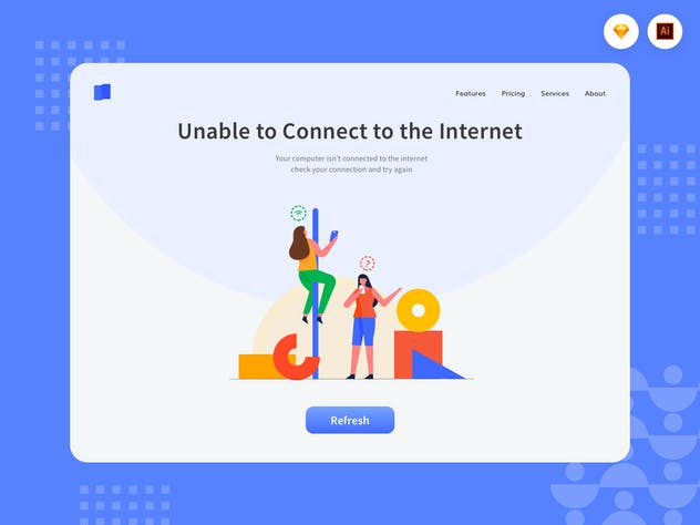 Can't Connect to Network - Website Header - product preview 1