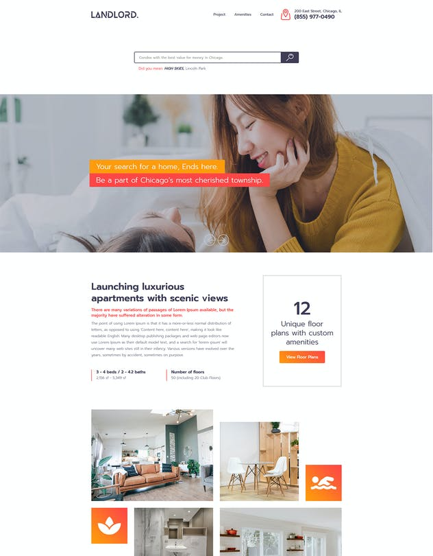 Landlord - Landing Page Templates - product preview 7