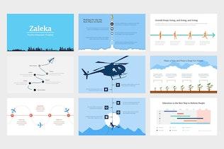 Thumbnail for Zaleka - Timeline Infographic Google Slides