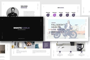 Thumbnail for Monte Carlo - Creative Powerpoint Template