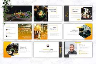 Thumbnail for GRANDE - Restaurant & Food Google Slides Template