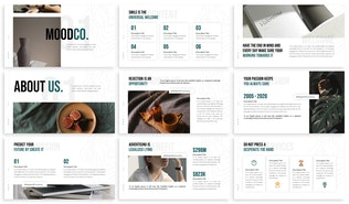 Миниатюра для Moodco - Дизайн интерьера Powerpoint Шаблон