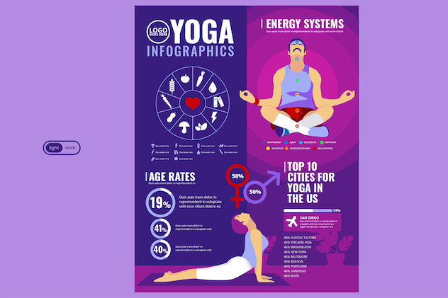 Sport Infographic Template: Yoga & Home Exercise - product preview 2