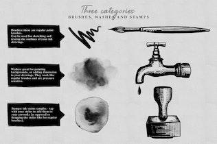 Thumbnail for Photoshop Ink Brushes