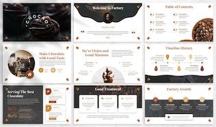 Миниатюра для Chocao - Шоколад Google слайды Шаблон
