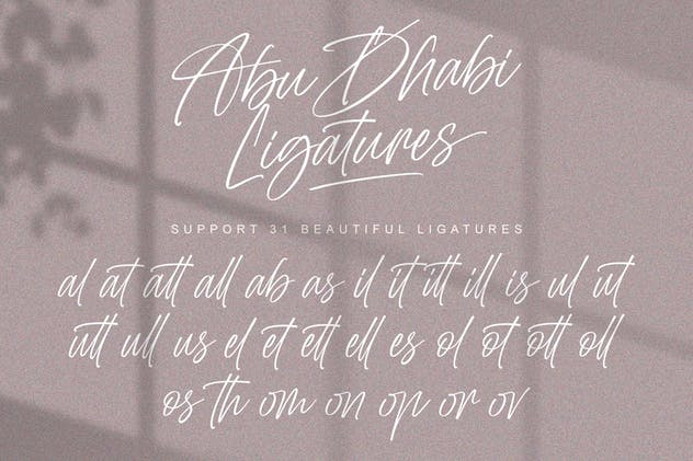Abu Dhabi Signature Font - product preview 5